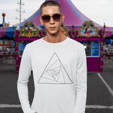 Abstract Triangle Full Sleeve T-shirt For Men Clothing Turtle Dojo