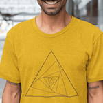Abstract Triangle T-shirt For Men Clothing Turtle Dojo