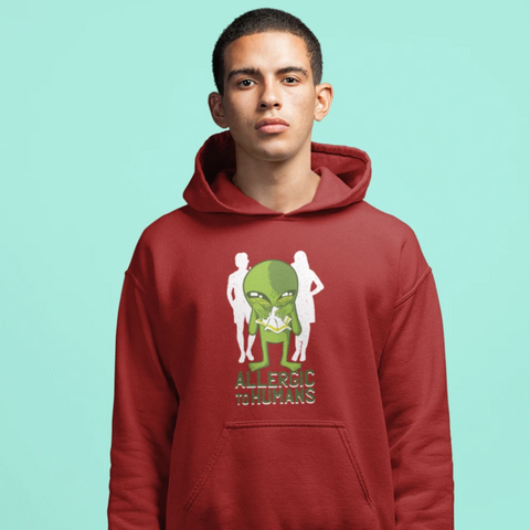 Allergic To Humans Hoodie For Men & Women Clothing Turtle Dojo