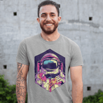 Astronaut Donuts And Pizza T-shirt For Men Clothing Turtle Dojo