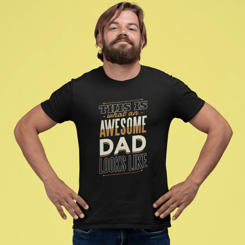 Awesome Dad T-shirt For Men Clothing Turtle Dojo