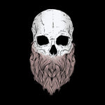 Bearded Skull T-shirt For Men Clothing Turtle Dojo