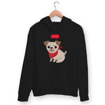 Cute Pug Hoodie For Men & Women Clothing Black / S Turtle Dojo