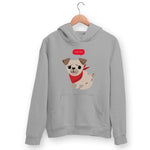 Cute Pug Hoodie For Men & Women Clothing Melange Grey / M Turtle Dojo