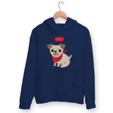 Cute Pug Hoodie For Men & Women Clothing Navy Blue / M Turtle Dojo