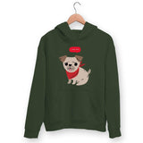 Cute Pug Hoodie For Men & Women Clothing Olive Green / S Turtle Dojo