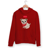 Cute Pug Hoodie For Men & Women Clothing Red / S Turtle Dojo