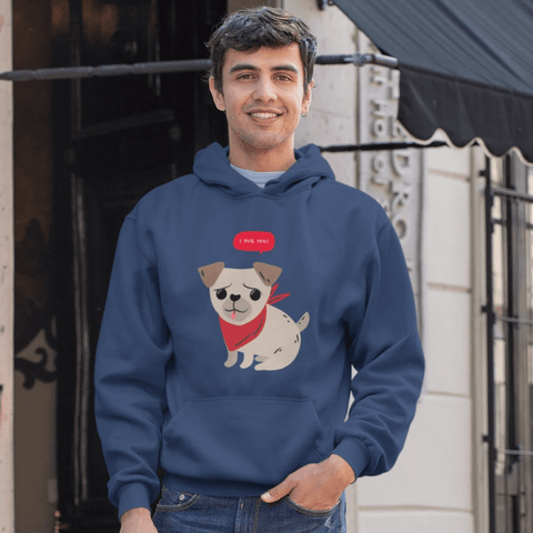 Cute Pug Hoodie For Men & Women Clothing Turtle Dojo