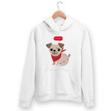 Cute Pug Hoodie For Men & Women Clothing White / S Turtle Dojo