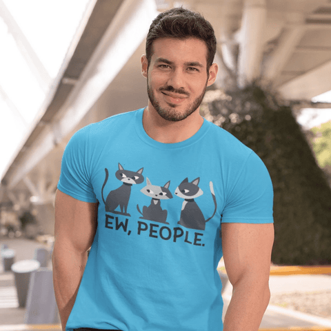Ew People Cats T-shirt For Men Clothing Turtle Dojo