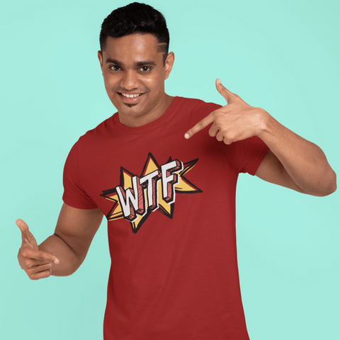 Funny WTF Comic Sign T-shirt For Men Clothing Turtle Dojo
