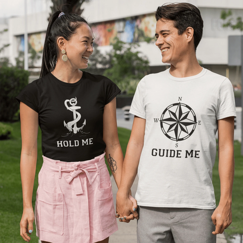 Guide & Hold Me Couple T-shirt Couple Tshirt Turtle Dojo