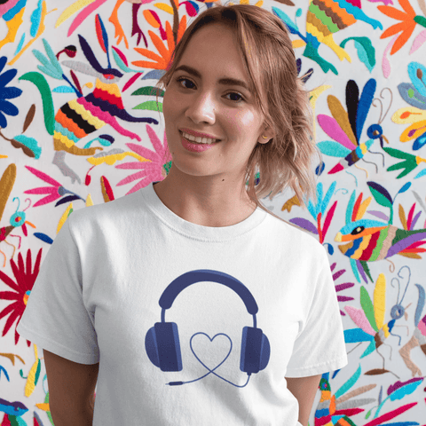 Headphone Love T-shirt For Women Clothing Turtle Dojo