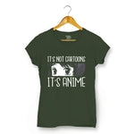 It's Anime T-shirt For Women Clothing Olive Green / XS Turtle Dojo