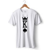 King Of Spades T-shirt For Men Clothing White / S Turtle Dojo