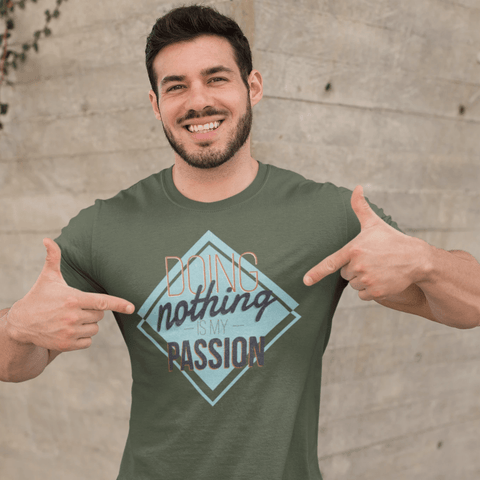 Lazy Passions T-shirt For Men Clothing Turtle Dojo