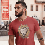 Leo Zodiac Sign T-shirt For Men Clothing Turtle Dojo