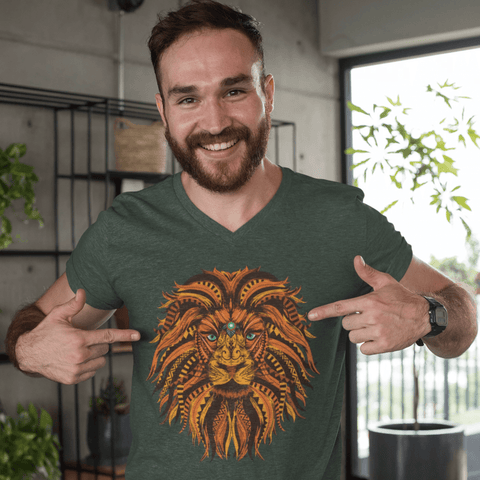 Lion Mandala T-shirt For Men Clothing Turtle Dojo
