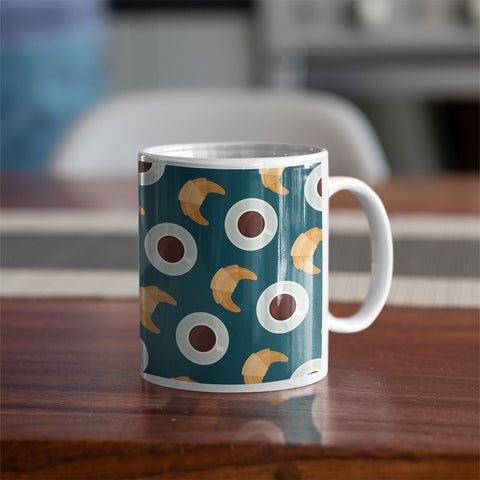 Coffee and Croissant Coffee Mug
