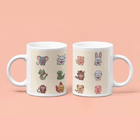 Chinese New Year Characters Coffee Mug