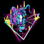 Neon Tiger T-shirt For Men Clothing Turtle Dojo