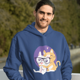 Nerd Cat Hug Hoodie For Men & Women Clothing Turtle Dojo