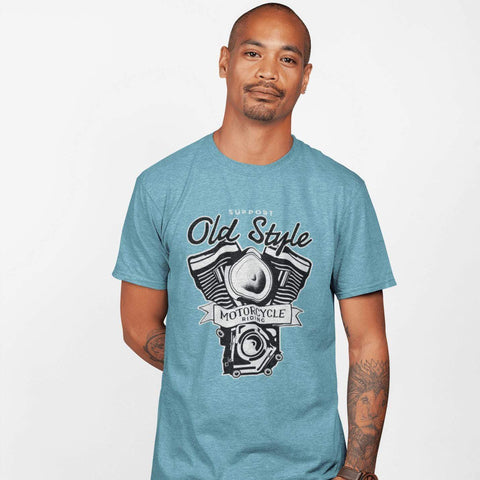 Old Motorcycle Riding T-shirt For Men Clothing Turtle Dojo