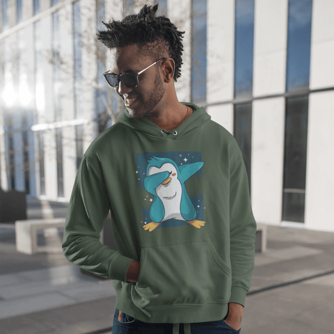Penguin Dab Hoodie For Men & Women Clothing Turtle Dojo