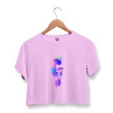 Psychedelic Mushroom Crop Top For Women