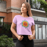 Psychedelic Love Crop Top For Women Clothing Turtle Dojo