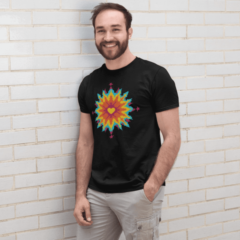 Psychedelic Love T-shirt For Men Clothing Turtle Dojo