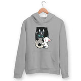 Puppies Playing Hoodie For Men & Women Clothing Melange Grey / M Turtle Dojo