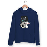 Puppies Playing Hoodie For Men & Women Clothing Navy Blue / M Turtle Dojo