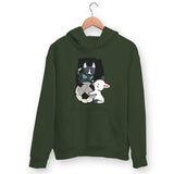 Puppies Playing Hoodie For Men & Women Clothing Olive Green / S Turtle Dojo