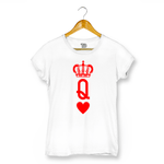 Queen Of Hearts T-shirt For Women Clothing White / XS Turtle Dojo