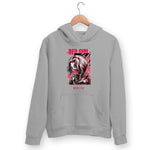 Red Girl Hoodie For Men & Women Clothing Melange Grey / M Turtle Dojo