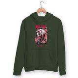 Red Girl Hoodie For Men & Women Clothing Olive Green / S Turtle Dojo