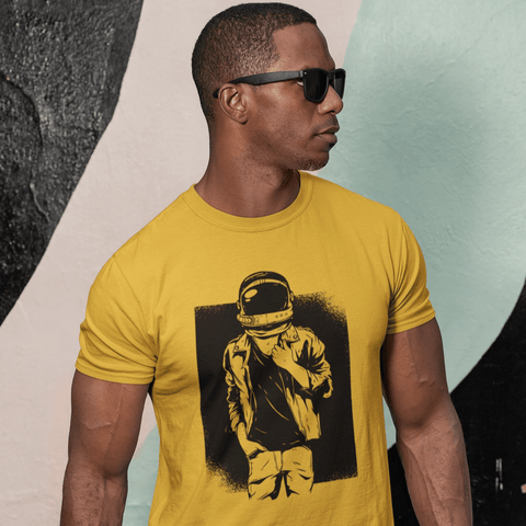 Rock Astronaut T-shirt For Men Clothing Turtle Dojo