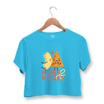 Pasta Pizza Love Crop Top For Women
