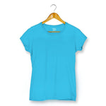 Solid Plain Blue T-shirt For Women Clothing Sky Blue / XS Turtle Dojo