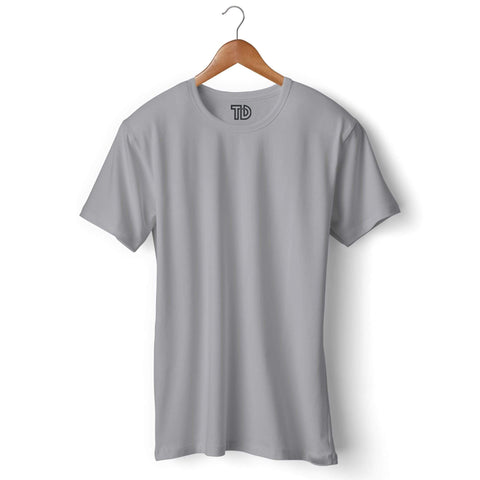 Solid Plain Light Grey T-shirt For Men Clothing Melange Grey / S Turtle Dojo