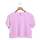 Solid Plain Pink Crop Top For Women Clothing Light Pink / S Turtle Dojo