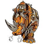 Steampunk Rhino T-shirt For Men Clothing Turtle Dojo