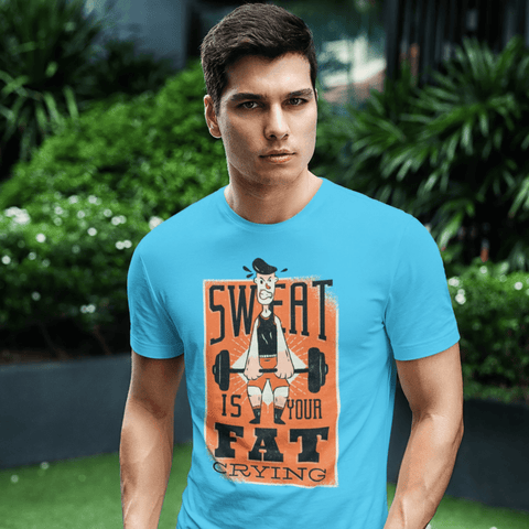 Sweat Quote T-shirt For Men Clothing Turtle Dojo