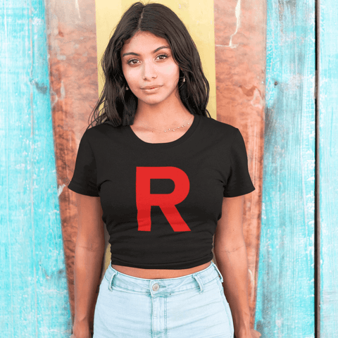 Team R Crop Top For Women Clothing Turtle Dojo