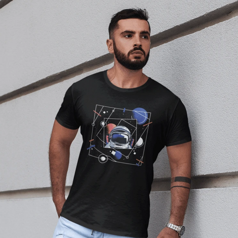 Universe Astronaut T-shirt For Men Clothing Turtle Dojo