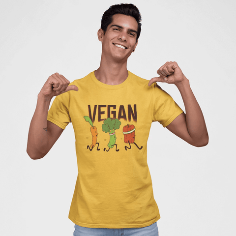 Vegan Runners T-shirt For Men Clothing Turtle Dojo