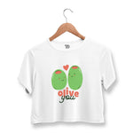 Olive You Crop Top For Women