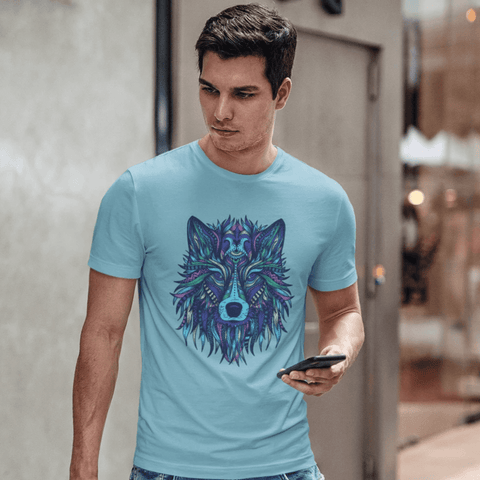 Wolf T-shirt For Men Clothing Turtle Dojo