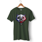 Wolfy Gamer Official T-shirt For Men Clothing Olive Green / S Turtle Dojo